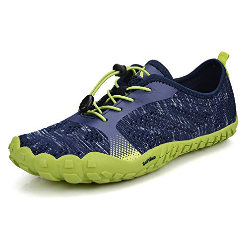 QANSI Trail Shoes Women Hiking Running Athletic Casual Barefoot Gym Tennis Sneakers Blue Size 10.5