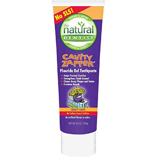 2 Packs of Natural Dentist Kids Cavity Zapper Toothpaste Buster Groovy Grape - 5 Oz