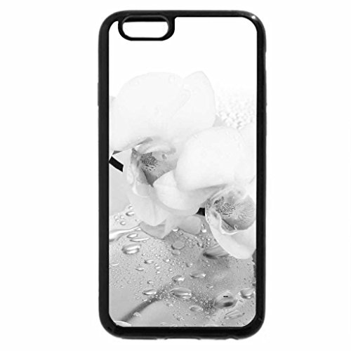 iPhone 6S Plus Case, iPhone 6 Plus Case (Black & White) - White orchid