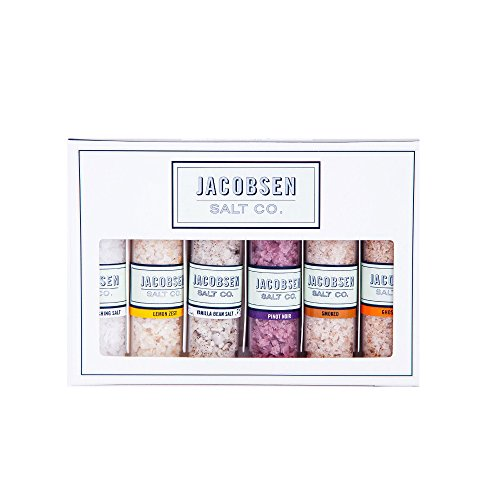 Jacobsen Salt Co. Gift Set - 6 Flavored - Vanilla Salt