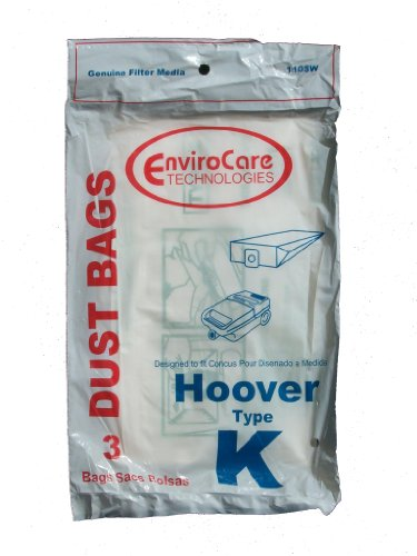 12 Hoover Type K Spirit Vacuum Bags, Canisters, Encore, Supremacy, Older Runabout Vacuum Cleaners,4010028K, 4010100K, H-4010100KES, Appliances for Home