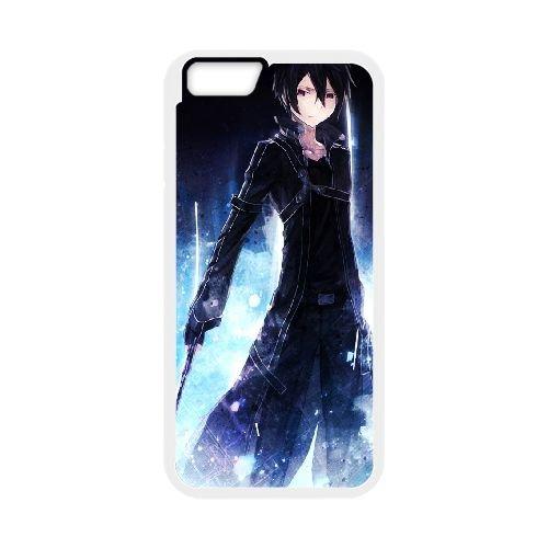 Sword Art Online coque iPhone 6 Plus 5.5 Inch cellulaire cas coque de téléphone cas blanche couverture de téléphone portable EEECBCAAN08180