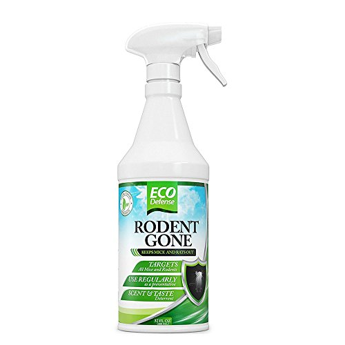 Eco Defense Mice Repellent - Humane Mouse Trap Substitute - Organic Spray - Guaranteed Effective -...