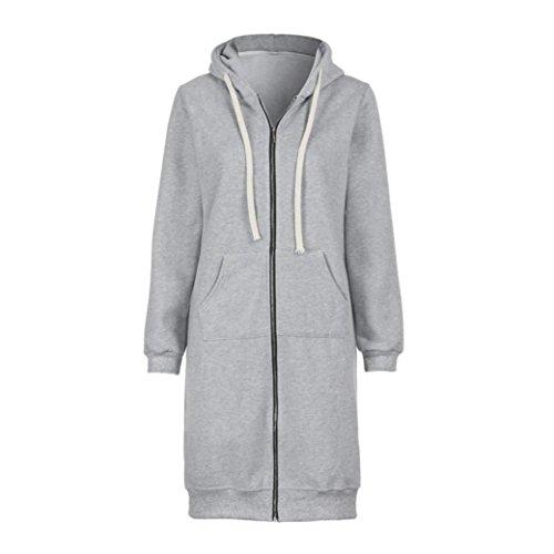 Coat,FUNIC Women Zipper Hoodies Sweatshirt Long