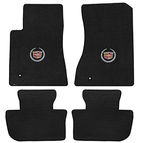 Lloyd Mats LogoMat Custom Floor Mats - Cadillac CTS 2WD Coupe 2011-2014 4Pc Front & Back Set Carpeted Custom Fit Mats Charcoal (Dark Gray) ()
