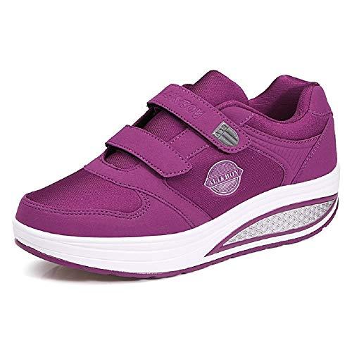 Ginnastica Sole Shake Viola Eu Scarpe Viola Da Dimensione Rocker Women Shoes Walking Loop 37 Fuxitoggo Hook colore 8qF7Y