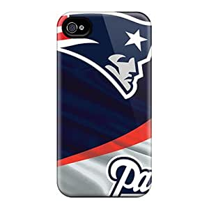 Premium Durable New England Patriots Fashion Tpu Iphone 4/4s Protective Case Cover