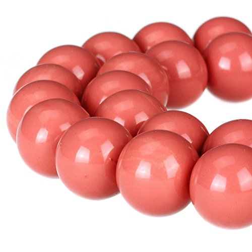 Painted Glass Round Beads - 8