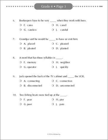 Amazon.com: Reading Placement Tests; 4th-6th Grades: Easy ...