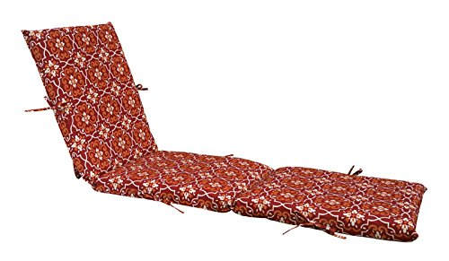Amazon.com: Bossima Indoor/Outdoor Red Damask Seat Pad