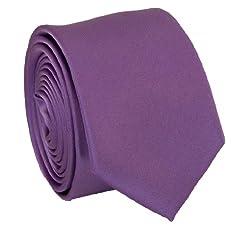 Solid Purple Slim Tie . 2.25' inch wide