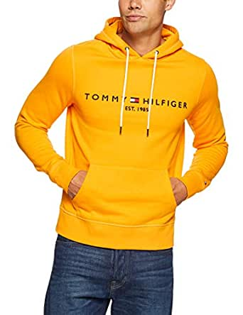 TOMMY HILFIGER Men's Tommy Logo Hoody, Zinnia, X-Large