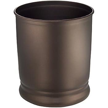 Nu steel wastebasket silver resin oil rubbed bronze home kitchen for Oil rubbed bronze bathroom wastebasket