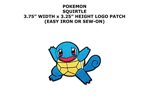 Pokemon Squirtle Embroidered Iron/Sew-on Comics Cartoon Theme Logo Patch/Applique