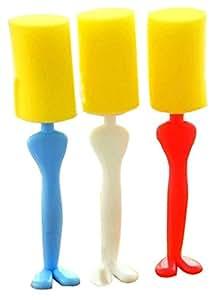 Set Of 2 Brush Hot Water Bottle/Kitchen Stoves Gap Cleaning Brush Random Color