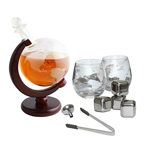 Etched Globe Decanter - 4
