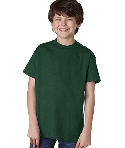 Hanes Boys' 5 Pack Ultimate Comfortsoft Crew, Deep Forest, Small