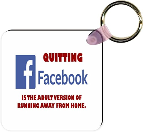 Price comparison product image Rikki Knight Funny Saying Quitting Facebook,  White