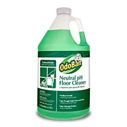 OdoBan 936162-G4-4 Neutral pH Floor Cleaner Concentrate, 4-1 gal Bottles, 128 fl. oz., 12\