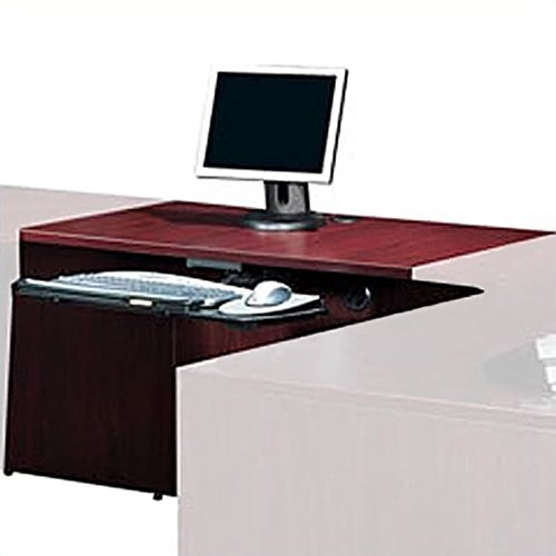 Offices to Go 30'' - 48'' Flush Bridge - 36'' wide in American Mahogany by Offices To Go