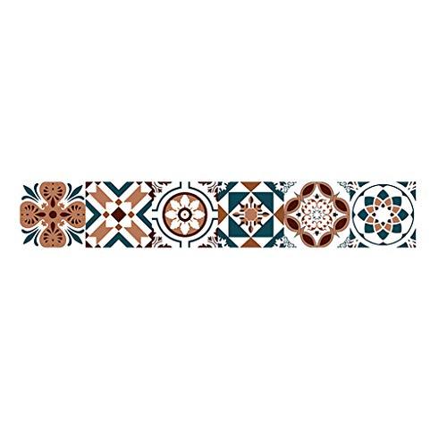 Dressin Adhesive Wall Stickers Peel and Stick Backsplash Tile Shelf Art DIY Kitchen Bathroom Cafe Decor Decal