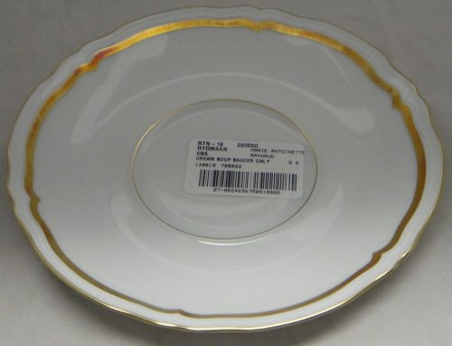 Raynaud Marie Antoinette-Gold Saucer For Cream Soup Bowl