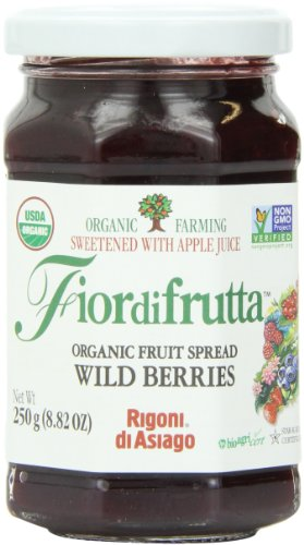 (Rigoni Di Asiago Fiordifrutta Organic Fruit Spread, Wildberries, 8.82 Ounce )