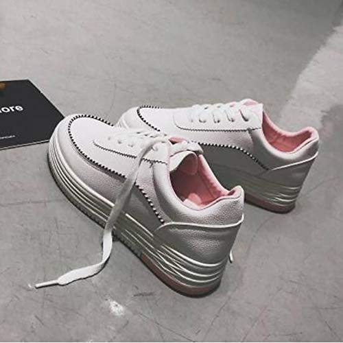 Poliuretano Spring Pink Pink Green PU Heel Sneakers Flat Zapatos ZHZNVX Comfort de Mujer Black OwRanqI