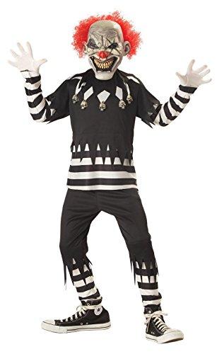 Clown Costumes Girl (Creepy Clown Boy's Costume, Medium, One Color)