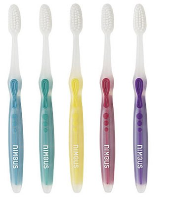 "Nimbus® Microfine® Toothbrush - COMPACT size, Pkg. of 5 ""Colors Vary"""