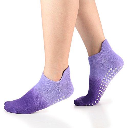 Women's Grip Socks for Yoga Pilates Barre Dance Ombre Dyed Non Slip Socks 1 Pack - Womens Line Dancing Shoes