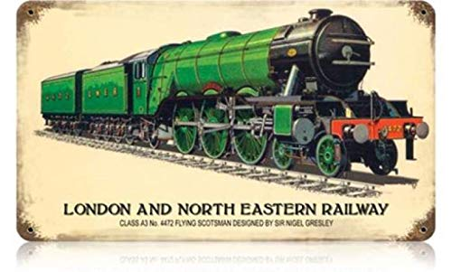Losea London and North Eastern Railway Metal Tin Sign, Wall Decorative Sign 12 x 8 Inches