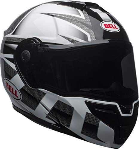 Bell Helmets Drop - Bell SRT Modular Street Motorcycle Helmet(Predator Gloss White/Black, Medium)