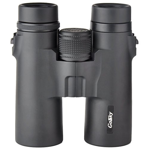 Gosky 8×42 Binoculars for Adults, Compact HD Professional Binoculars for Bird Watching Travel Stargazing Hunting Concerts Sports-BAK4 Prism FMC Lens-with Phone Holder, Strap Carrying Bag