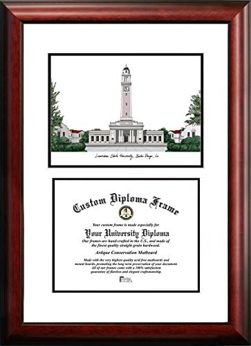 - Campus Images LA999V Louisiana State University Scholar Diploma Frame, 8.5