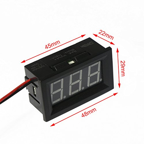 12 Volt Panel Meter : Volt digital voltmeter drok quot dc v voltage