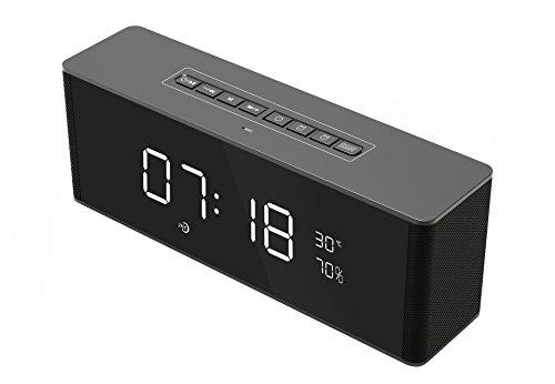 xingganglengyin Wireless Alarm Clock Smart Bluetooth Speaker with Card Subwoofer FM Multifunction Bluetooth Speaker by xingganglengyin (Image #4)