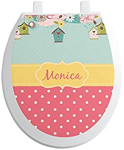 Easter Birdhouses Toilet Seat Decal - Round (Personalized) best