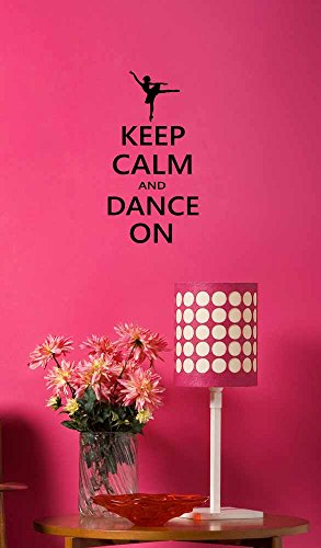 Wall Decal Keep Calm and Dance On Ballet. Vinyl Wall quote saying art sticker by Ideogram Designs (Wall Decals Keep Calm compare prices)
