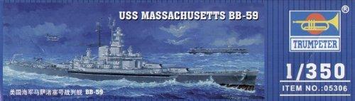 トランペッター 1/350 アメリカ海軍 BB-59 マサチューセッツ 05306 プラモデル