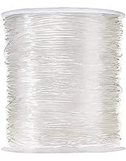 JZZJ Elastische kralen draden sieraden maken string elastisch polyester koord voor armbanden en ambachten, 0,8 mm, 100 m