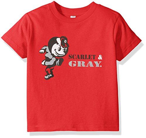 State Buckeyes Shirts Ohio (Two Feet Ahead NCAA Ohio State Buckeyes Children Unisex Short Sleeve Tshirt,4,Red)