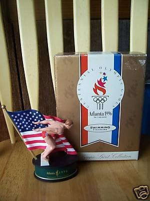 Toy Olympic Rings - Olympic swimming figurine (Atlanta 1996)