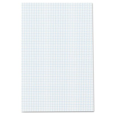 Quadrille Pad, 17 x 11, White, 1, 50-Sheet Pad, Total 30 PD by Ampad