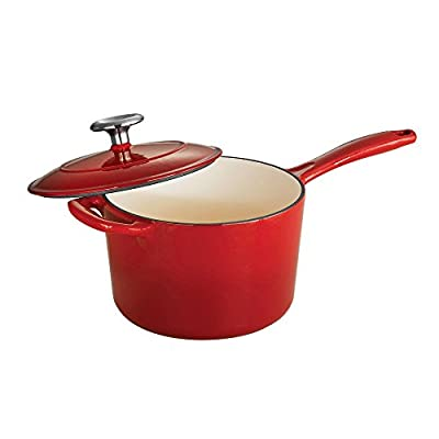 Tramontina Gourmet Enameled Cast Iron 2.5 qt. Covered Sauce Pan - Gradated Red by Tramontina USA Inc.