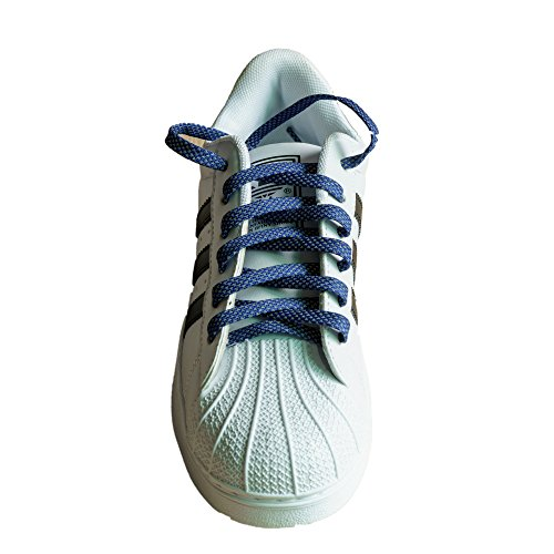 COOL LACE Flat Athletic Shoelaces Reflective 1 Pair Pack,Shoe Laces for Sneakers