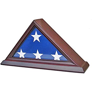 .com - 3' x 5' american flag display case stand shadow box ...