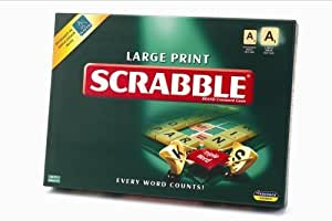 Large print scrabble by paul lamond games for Precio juego scrabble mesa