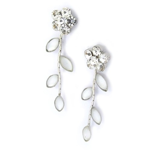 Les Trésors De Lily [K0979] - Boucles Créateur 'Paradis Floral' blanc