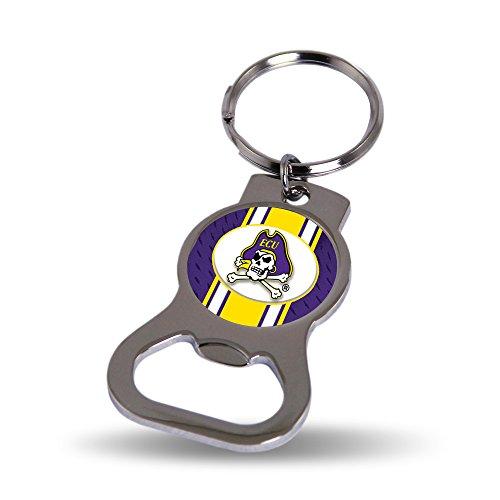 Rico Industries NCAA East Carolina Pirates Metal Bottle Opener Keychain